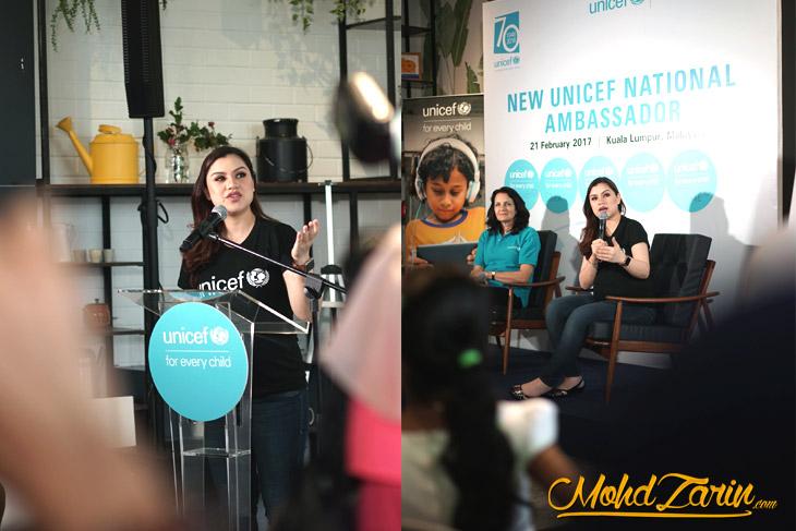 Lisa Surihani sebagai Duta UNICEF Malaysia