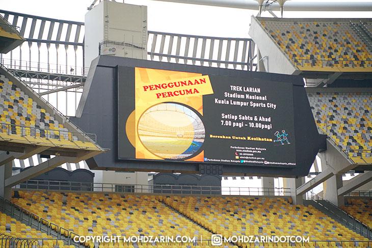 Trek Larian Stadium Nasional Bukit Jalil