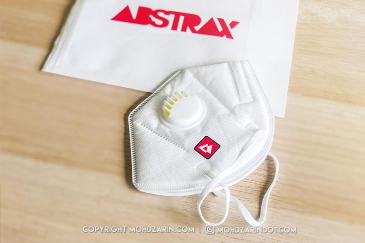 Topeng Muka KN95 Abstrax Jingga